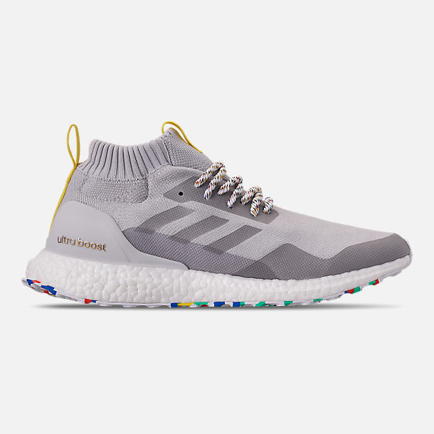 Right view of Men's adidas UltraBOOST Mid Running Shoes in Grey