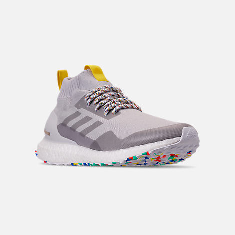 Three Quarter view of Men's adidas UltraBOOST Mid Running Shoes in Grey