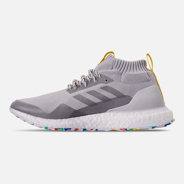 Left view of Men's adidas UltraBOOST Mid Running Shoes in Grey