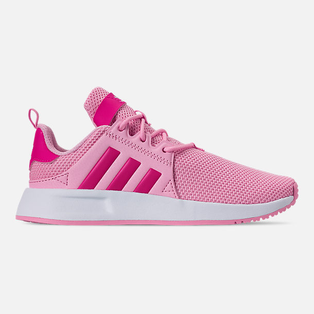 Right view of Girls' Little Kids' adidas Originals X_PLR Casual Shoes in True Pink/Shock Pink/Footwear White