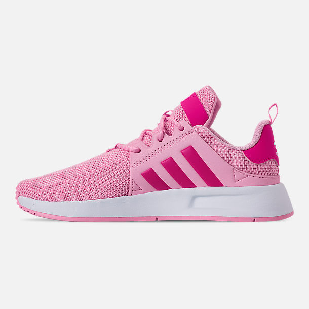 Left view of Girls' Little Kids' adidas Originals X_PLR Casual Shoes in True Pink/Shock Pink/Footwear White