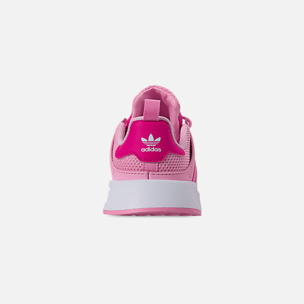 Back view of Girls' Little Kids' adidas Originals X_PLR Casual Shoes in True Pink/Shock Pink/Footwear White
