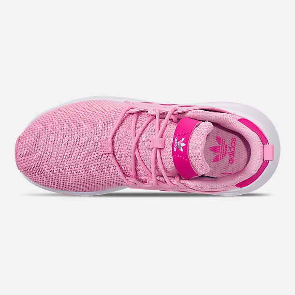 Top view of Girls' Little Kids' adidas Originals X_PLR Casual Shoes in True Pink/Shock Pink/Footwear White