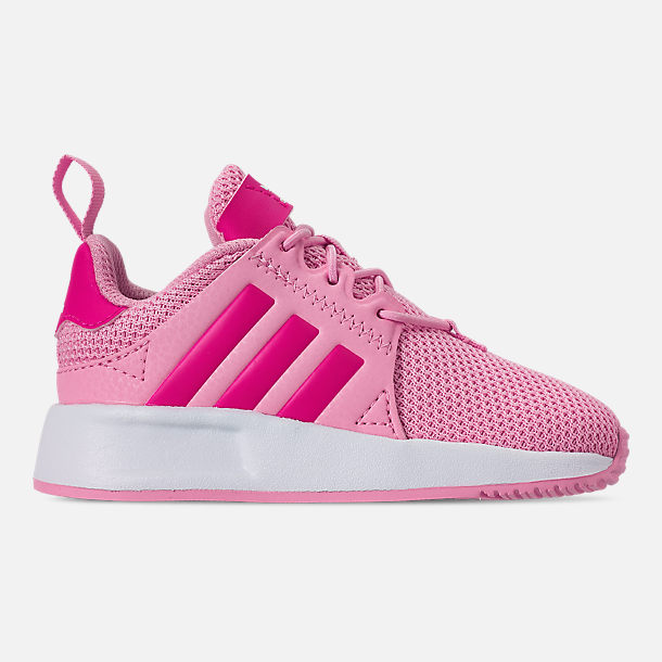 Right view of Girls' Toddler adidas Originals X_PLR Casual Shoes in True Pink/Shock Pink/Footwear White