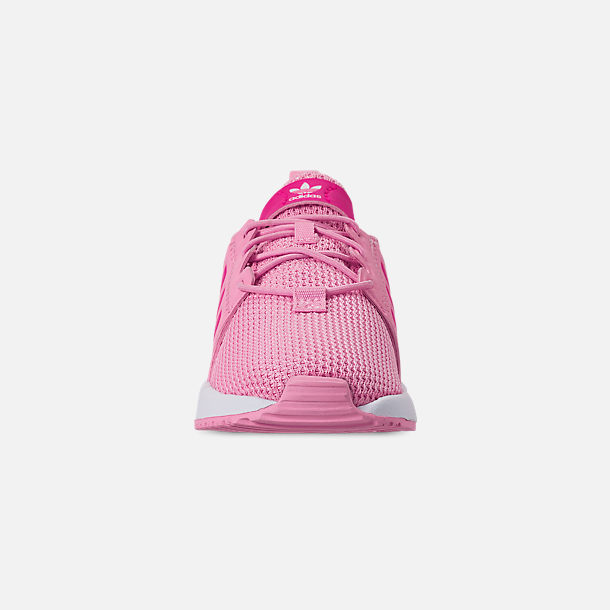 Front view of Girls' Toddler adidas Originals X_PLR Casual Shoes in True Pink/Shock Pink/Footwear White
