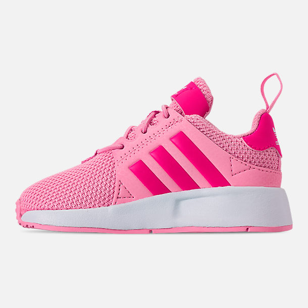 Left view of Girls' Toddler adidas Originals X_PLR Casual Shoes in True Pink/Shock Pink/Footwear White