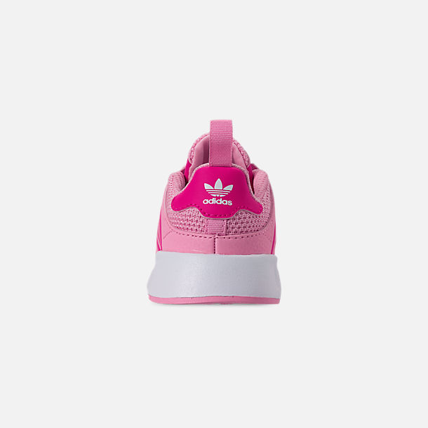Back view of Girls' Toddler adidas Originals X_PLR Casual Shoes in True Pink/Shock Pink/Footwear White
