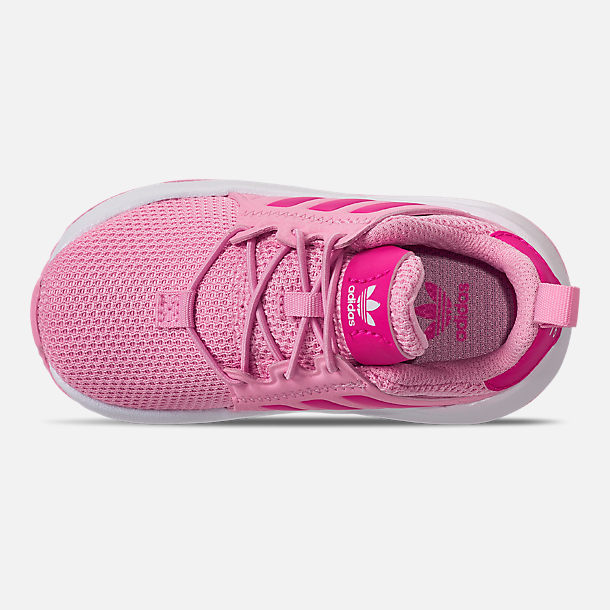Top view of Girls' Toddler adidas Originals X_PLR Casual Shoes in True Pink/Shock Pink/Footwear White