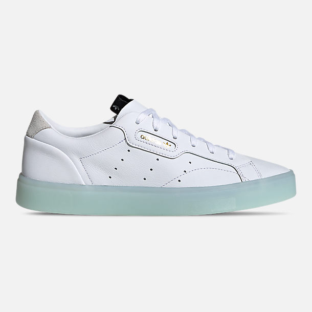 Right view of Women's adidas Originals Sleek Casual Shoes in Cloud White/Cloud White/Ice Mint