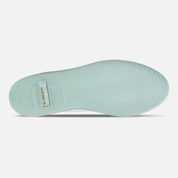 Bottom view of Women's adidas Originals Sleek Casual Shoes in Cloud White/Cloud White/Ice Mint
