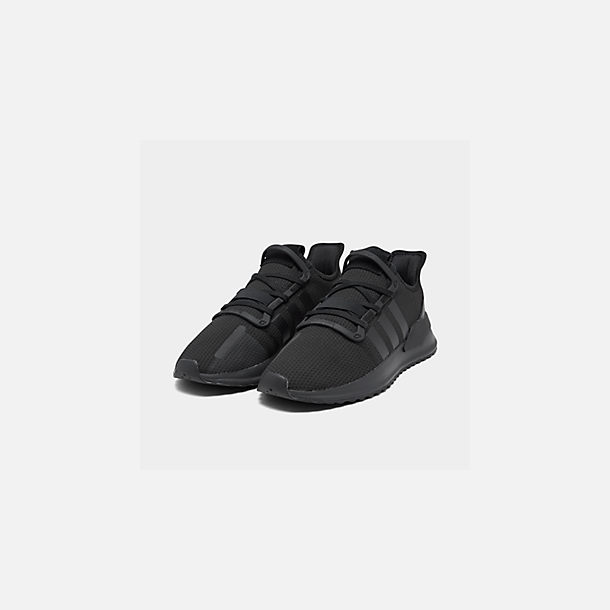 Three Quarter view of Men's adidas U_Path Run Casual Shoes in Core Black/Core Black/Footwear White
