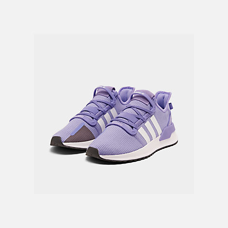 Three Quarter view of Women's adidas U_Path Run Casual Shoes in Active Purple/Footwear White/Core Black