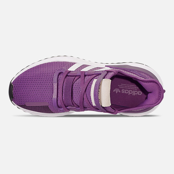 Top view of Women's adidas U_Path Run Casual Shoes in Active Purple/Footwear White/Core Black
