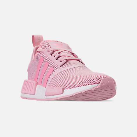 7355cc34320326 Three Quarter view of Girls  Big Kids  adidas NMD Runner Casual Shoes in  Clear