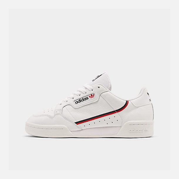 Right view of Men's adidas Originals Continental 80 Casual Shoes in Footwear White/Scarlet/Collegiate Navy