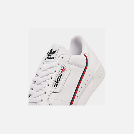 Front view of Men's adidas Originals Continental 80 Casual Shoes in Footwear White/Scarlet/Collegiate Navy