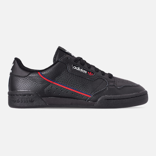 Right view of Men's adidas Originals Continental 80 Casual Shoes in Core Black/Scarlet/Collegiate Navy