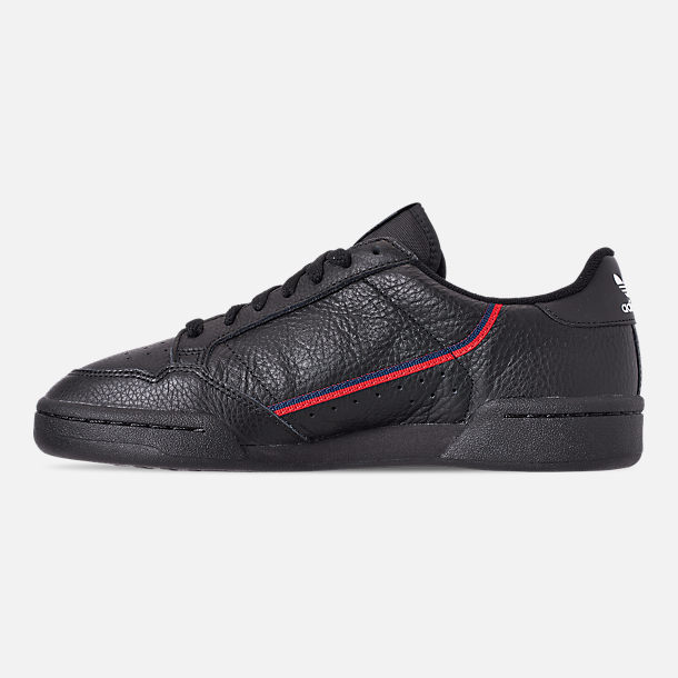 Left view of Men's adidas Originals Continental 80 Casual Shoes in Core Black/Scarlet/Collegiate Navy