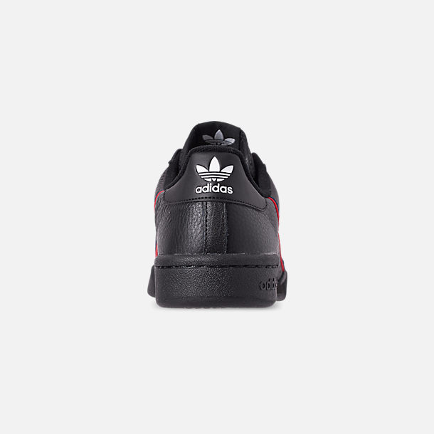 Back view of Men's adidas Originals Continental 80 Casual Shoes in Core Black/Scarlet/Collegiate Navy