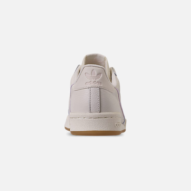 Back view of Women's adidas Originals Continental 80 Casual Shoes in Off White/Orchid Tint/Soft Vision