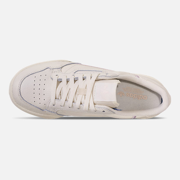 Top view of Women's adidas Originals Continental 80 Casual Shoes in Off White/Orchid Tint/Soft Vision