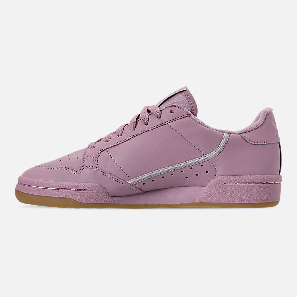 Left view of Women's adidas Originals Continental 80 Casual Shoes in Soft Vision/Grey/Grey
