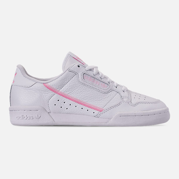 9bc5bfb544 Right view of Women s adidas Originals Continental 80 Casual Shoes in  White True Pink