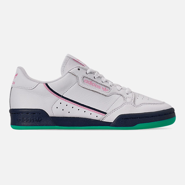 Right view of Women's adidas Originals Continental 80 Casual Shoes in Footwear White/True Pink/Collegiate Navy