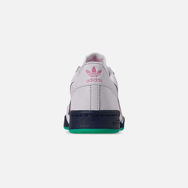 Back view of Women's adidas Originals Continental 80 Casual Shoes in Footwear White/True Pink/Collegiate Navy