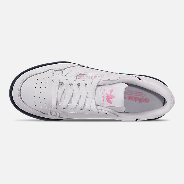 Top view of Women's adidas Originals Continental 80 Casual Shoes in Footwear White/True Pink/Collegiate Navy