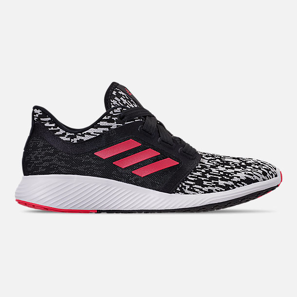 Right view of Women's adidas Edge Lux Running Shoes in Core Black/Silver Metallic/Shock Red