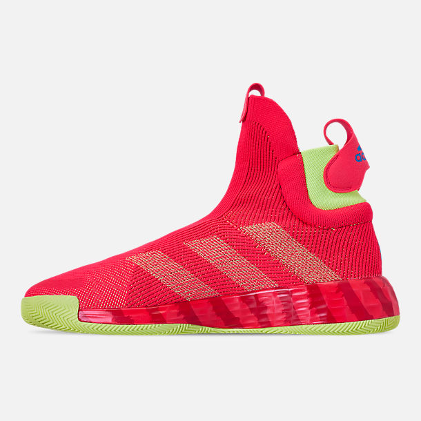 Left view of Men's adidas N3xt L3V3l Basketball Shoes in Shock Red/Scarlet/Hi-Res Yellow