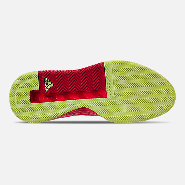 Bottom view of Men's adidas N3xt L3V3l Basketball Shoes in Shock Red/Scarlet/Hi-Res Yellow