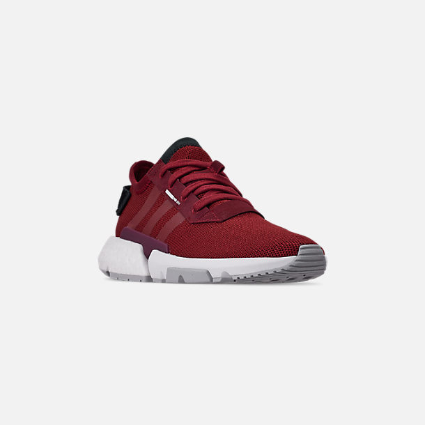 Three Quarter view of Men's adidas Originals POD-S3.1 Casual Shoes in Collegiate Burgundy