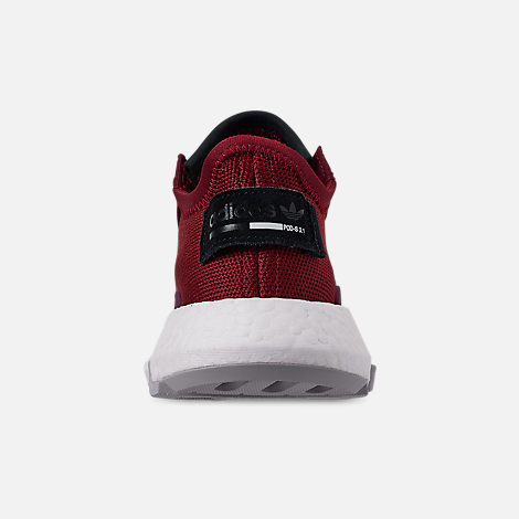 Back view of Men's adidas Originals POD-S3.1 Casual Shoes in Collegiate Burgundy