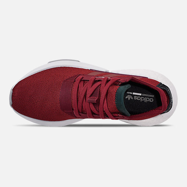 Top view of Men's adidas Originals POD-S3.1 Casual Shoes in Collegiate Burgundy