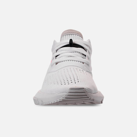 Front view of Women's adidas Originals POD-S3.1 Primeknit Casual Shoes in White/White/Shock Red