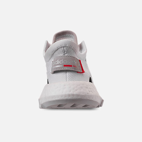 Back view of Women's adidas Originals POD-S3.1 Primeknit Casual Shoes in White/White/Shock Red