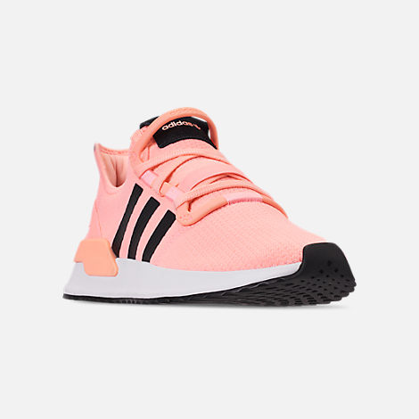 Three Quarter view of Women's adidas U_Path Run Casual Shoes in Clear Orange/Core Black/Footwear White