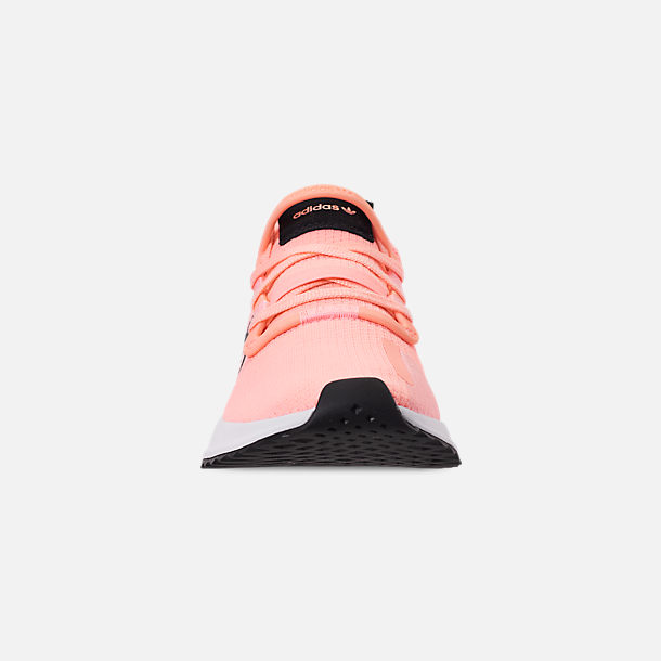 Front view of Women's adidas U_Path Run Casual Shoes in Clear Orange/Core Black/Footwear White