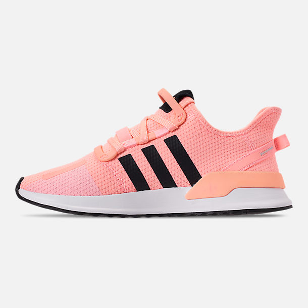 Left view of Women's adidas U_Path Run Casual Shoes in Clear Orange/Core Black/Footwear White