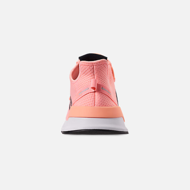 Back view of Women's adidas U_Path Run Casual Shoes in Clear Orange/Core Black/Footwear White