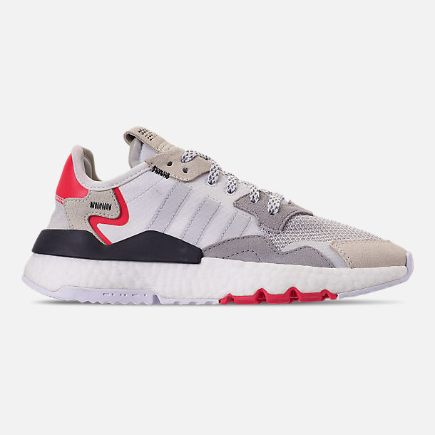 check out 09a45 82ff3 Right view of Big Kids  adidas Originals Nite Jogger Casual Shoes in  White Crystal