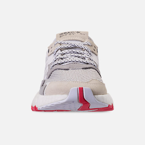 online store 2696b 3df46 Front view of Big Kids  adidas Originals Nite Jogger Casual Shoes in  White Crystal