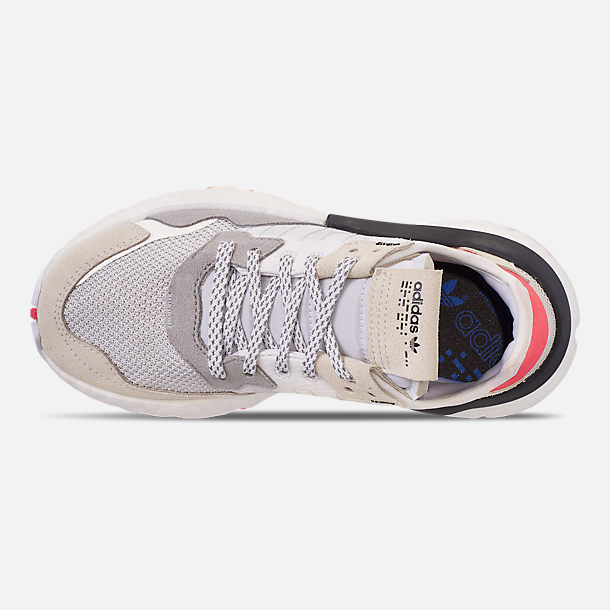 new product ae067 46416 Top view of Big Kids  adidas Originals Nite Jogger Casual Shoes in  White Crystal