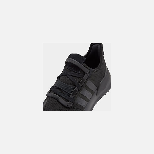 Front view of Boys' Big Kids' adidas U_Path Run Casual Shoes in Core Black/Core Black/Footwear White