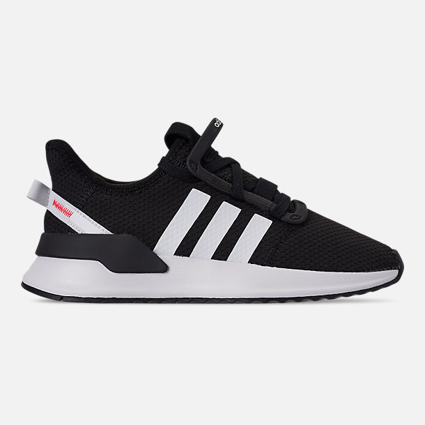 Right view of Boys' Big Kids' adidas U_Path Run Casual Shoes in Core Black/Footwear White/Shock Red
