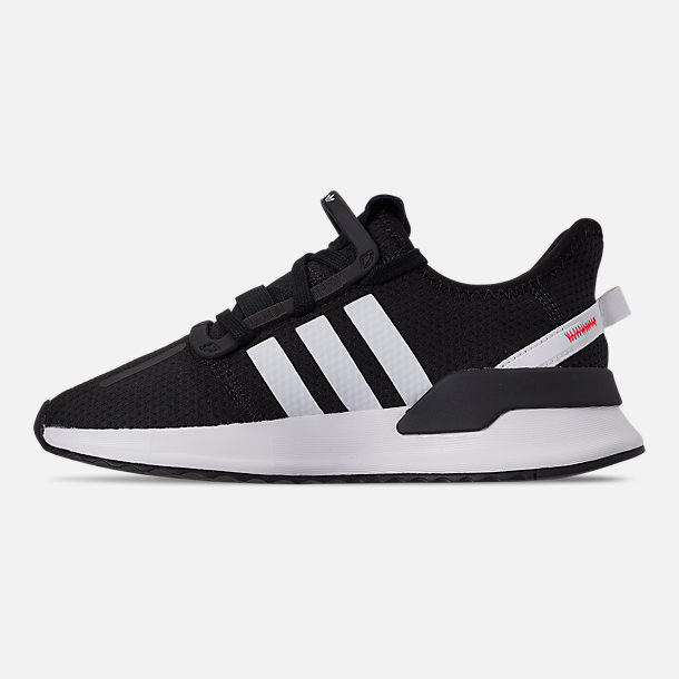 Left view of Boys' Big Kids' adidas U_Path Run Casual Shoes in Core Black/Footwear White/Shock Red