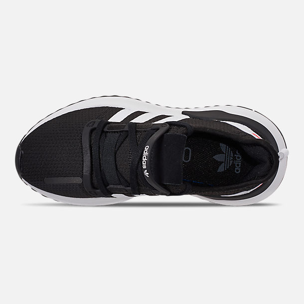 Top view of Boys' Big Kids' adidas U_Path Run Casual Shoes in Core Black/Footwear White/Shock Red