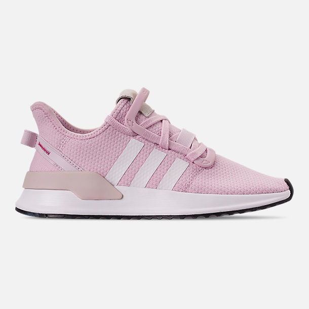 Right view of Girls' Big Kids' adidas U_Path Run Casual Shoes in Aero Pink/White/Black
